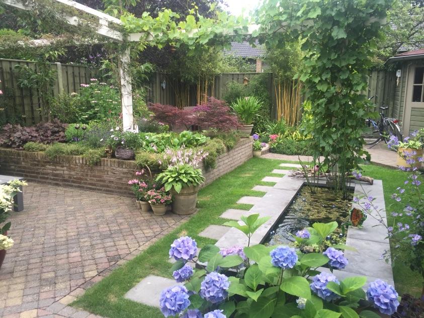Tuinrenovatie in mierlo gedaan door fred langstraat tuinen in sint